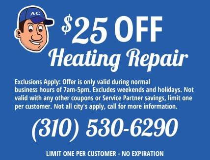 Heating Repair Coupon