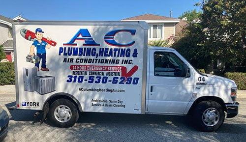 AC Plumbing Service Truck